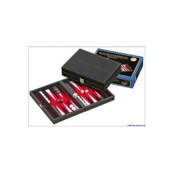 Backgammon koffer Tinos (rood)