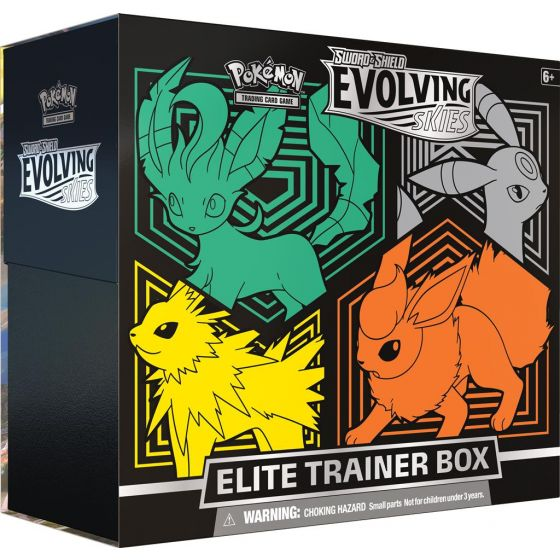 Evolving Skies Elite Trainer Box: Leafeon, Umbreon, Jolteon, Flareon