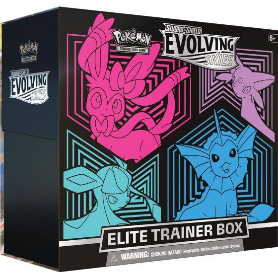 Evolving Skies Elite Trainer Box: Sylveon, Espeon, Glaceon, Vaporeon